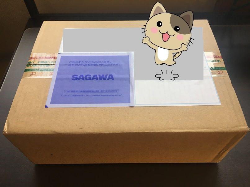 佐川急便で届いたNEXTモバイルの梱包