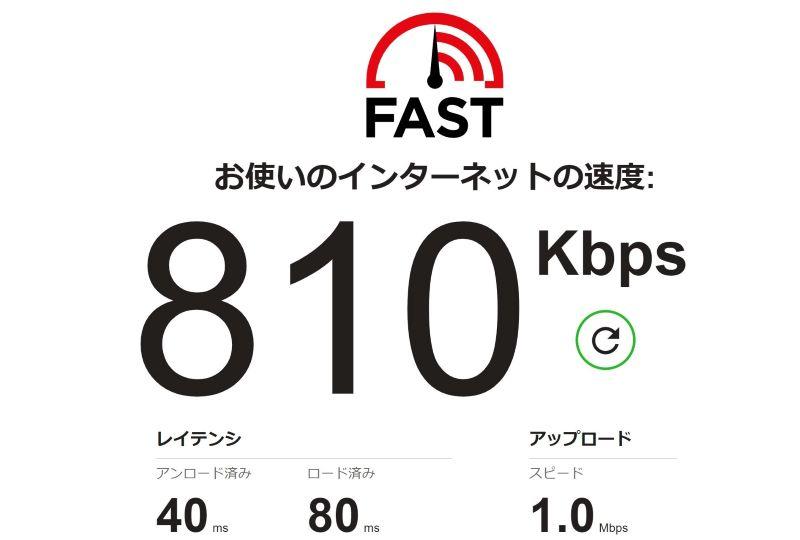 とくBWiMAX3日間制限時の通信速度の計測結果は1Mbps弱