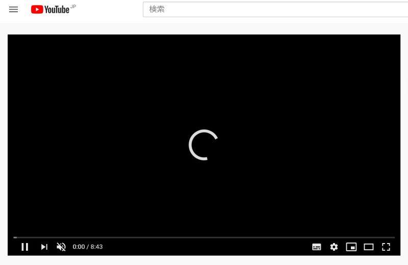 3日間制限時のYouTube読込は3~4秒かかる
